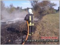 На Кіровоградщині виникло 15 пожеж сухої трави,  сміття та очерету