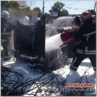 У Кропивницькому на Новомиколаївці загорівся автомобіль