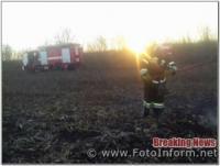 Вогнеборці Кіровоградщини загасили 2 займання пожнивних залишків на полях