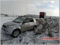 На Кіровоградщині перекинулася машина
