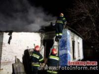 На Кіровоградщині у житловому секторі виникло п'ять пожеж