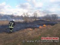 Кіровоградщина: на відкритих територіях виникло 13 займань