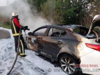 На Кіровоградщині знову загорівся автомобіль