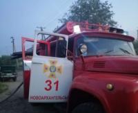 На Кіровоградщині під час пожежі чоловік отримав опіки