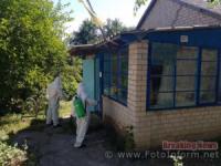 На Кіровоградщині продовжують дезінфекцію місць скупчення людей