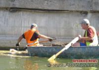 Кропивницький: у річці Інгул збирали сміття