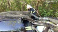 На Кіровоградщині рятувальники деблокували травмовану водійку