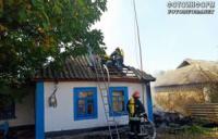 На Кіровоградщині жінка під час пожежі отримала опіки