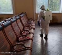 У Кропивницькому провели дезінфекцію залізничного вокзалу