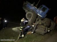 На Кіровоградщині перекинувся трактор