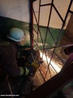 На Кіровоградщині безхатько застряг у металевій решітці