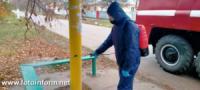 На Кіровоградщині дезінфікують місця скупчення людей
