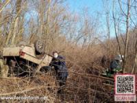 На Кіровоградщині у ДТП перекинувся позашляховик