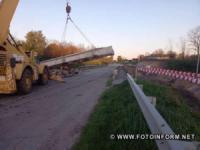 На Кіровоградщині дорожники влаштували дренажний шар на дорозі М-12