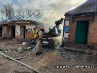 Кіровоградщина: на території приватних домоволодінь вогнеборці загасили 2 пожежі