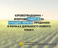 Кіровоградщина вчергове лідирує за площею земель,  проданих в рамках діяльності нового ринку