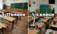 Дошкільнята й початкова школа - очно,  середня й старша - дистанційно