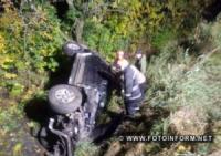 На Кіровоградщині злетів з дороги та перекинувся позашляховик