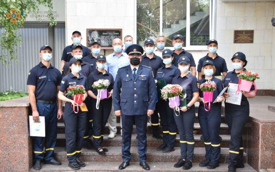 рятувальники відзначили прийдешній День Незалежності України