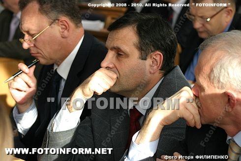 Первое собрание депутатского корпуса Кировоградской области (ФОТО Игоря Филипенко)