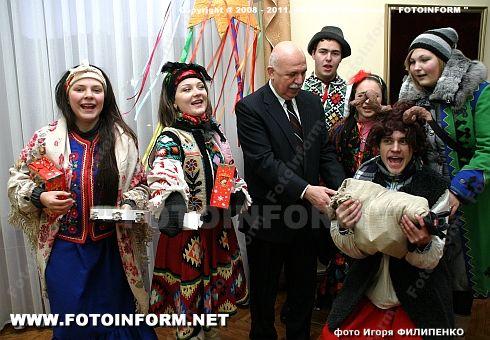 Колядники в стенах горсовета (ФОТО Игоря Филипенко)
